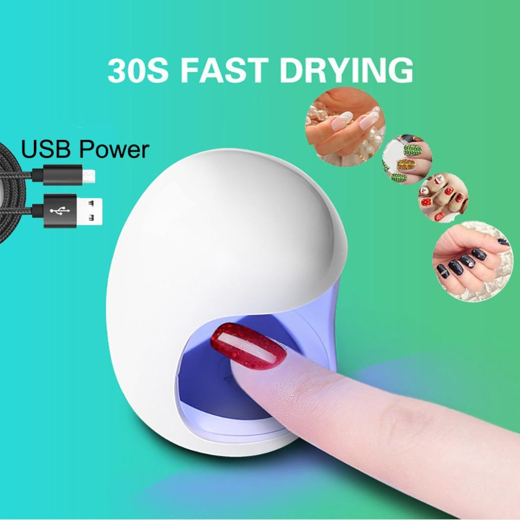 UV Nail Gel Dryer Curing Lamp, Clearance Iuhan Mini USB UV Nail Gel Curing Lamp Light Nail Gel Polish Dryer Nail Art Machine (white)