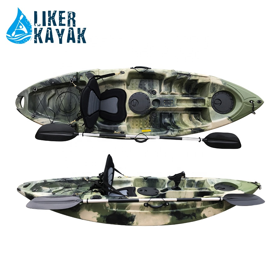 Single Sit On Top Fishing Kayak With High Seat Rail For Fish Tackles Easy Attaching Buy Sit On Top Fishing Kayak Sit On Top Kayak Fishing Kayak Product On Alibaba Com