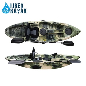 single sit on top fishing kayak with high seat,rail for fish tackles easy attaching