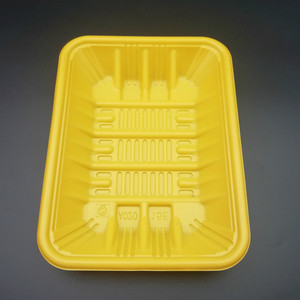 Food grade disposable plastic blister packaging PP fresh meat tray
