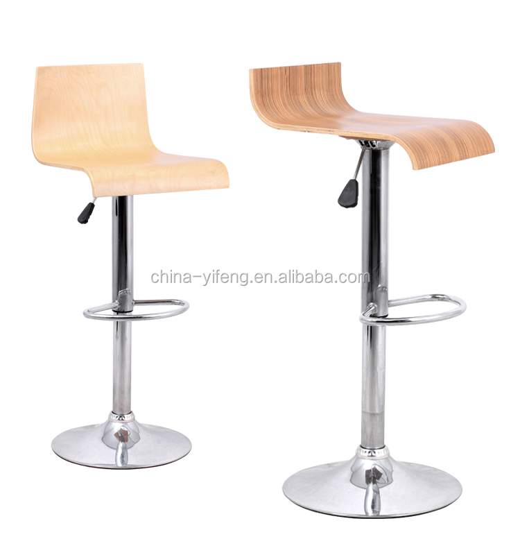 Height Adjustable High Quality Wood Bar Stool Factory