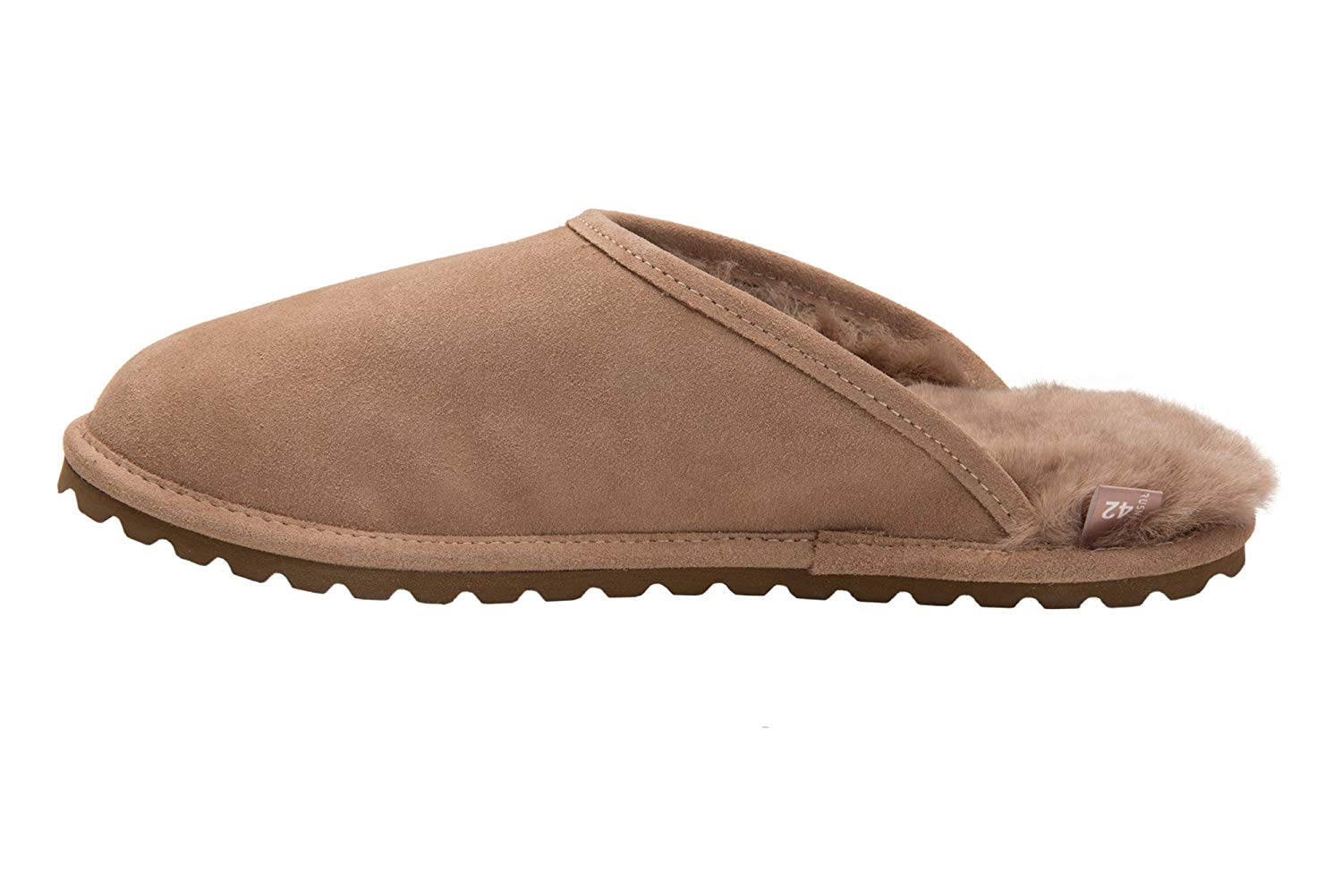 7d94e51bb25 Get Quotations · Rusnak Mens Sheepskin Leather Mule Slippers House Shoes  with Warm Wool Lining M68P