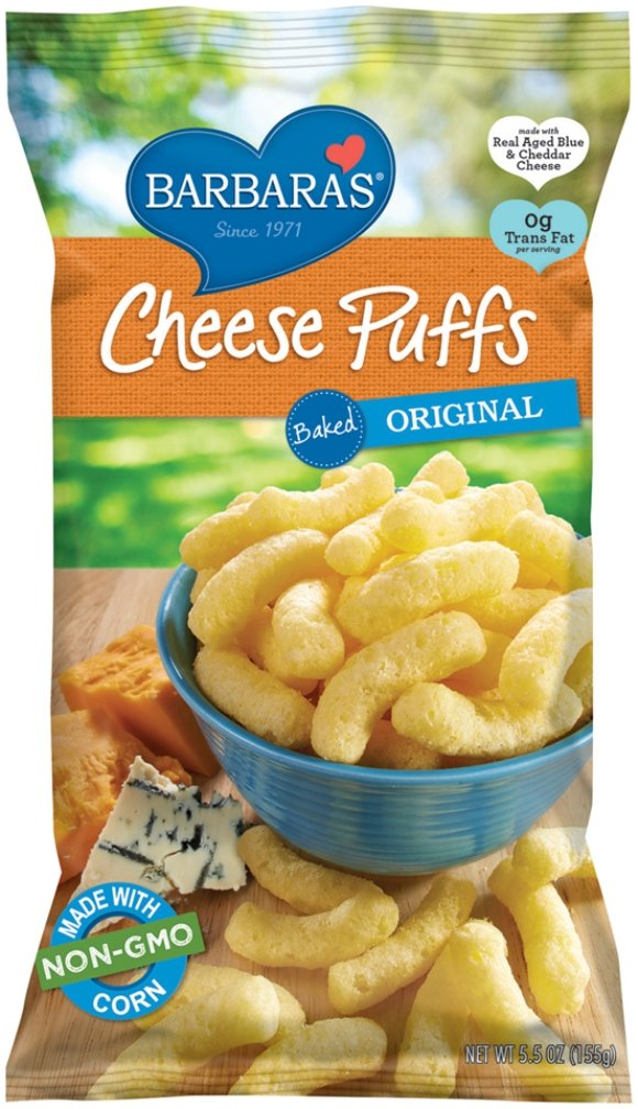 Barbara's Bakery Cheese Puffs, Baked Original, 5.5 Ounce (Pack of 12)