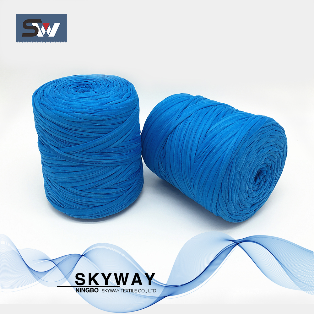 Recycled polyester cotton t shirt yarn