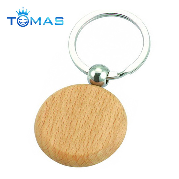Promotional gifts with custom logo wooden keychain/ custom key tag/ Custom wood keychain with logo