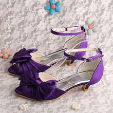 Superbe (21 Colors)Spring Purple Bridesmaid Shoes Low Heeled