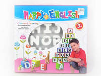 kids toys English Letter Coloured Drawing Pattern , Painting Toys for wholesale, Educational Toys for Children, EA012545
