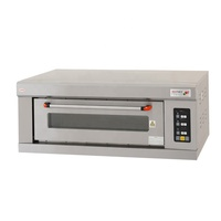 digital controller stainless steel gas deck bread cake pizza oven with stone