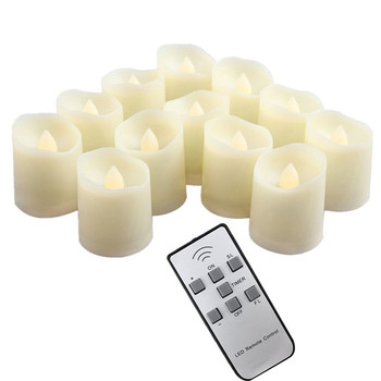 Battery Operated Electric Flameless Led Tealight Candle With Timer