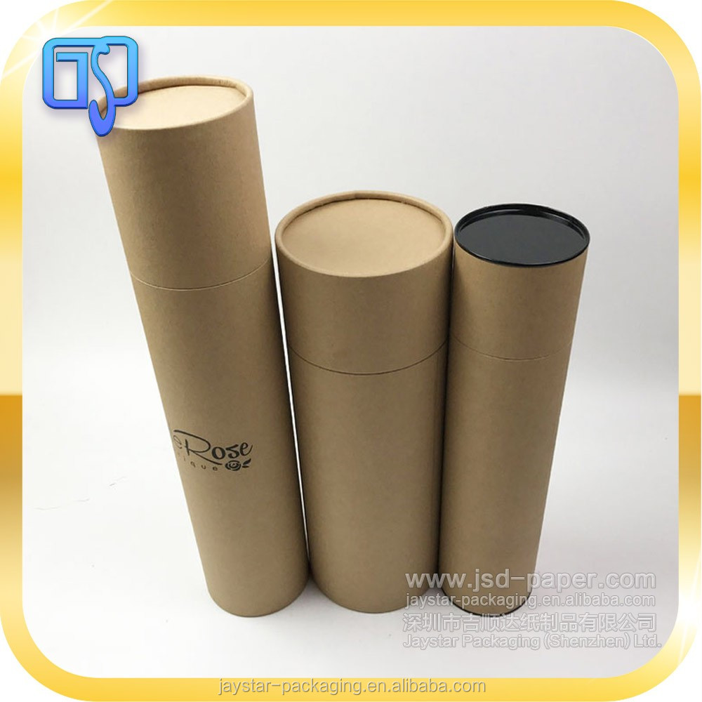 Professional paper tube manufacture paper tube package with lid wine paper tube