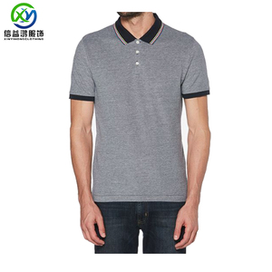 Wholesale cotton spandex top quality men's polo shirt with lining