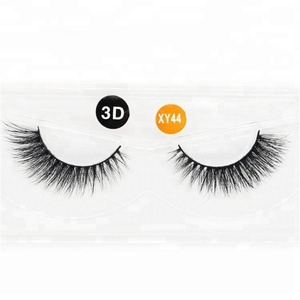Wholesale Plastic Eyelash Box Glitter 3D Silk False Eyelashes