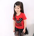 Children s clothing short sleeve T shirt female child 100 cotton short sleeve child basic shirt