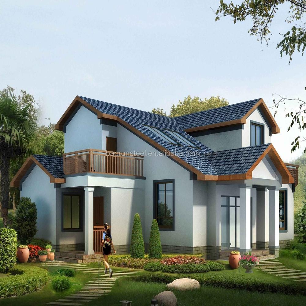 Comfortable modern high quality prefab villa with international architecture standard