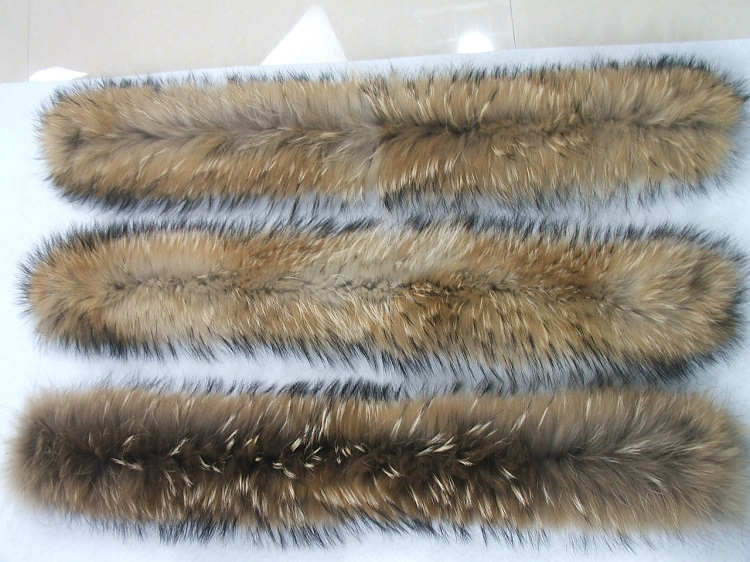 100% Genuine raccoon fur trim for hood/ real fur trim