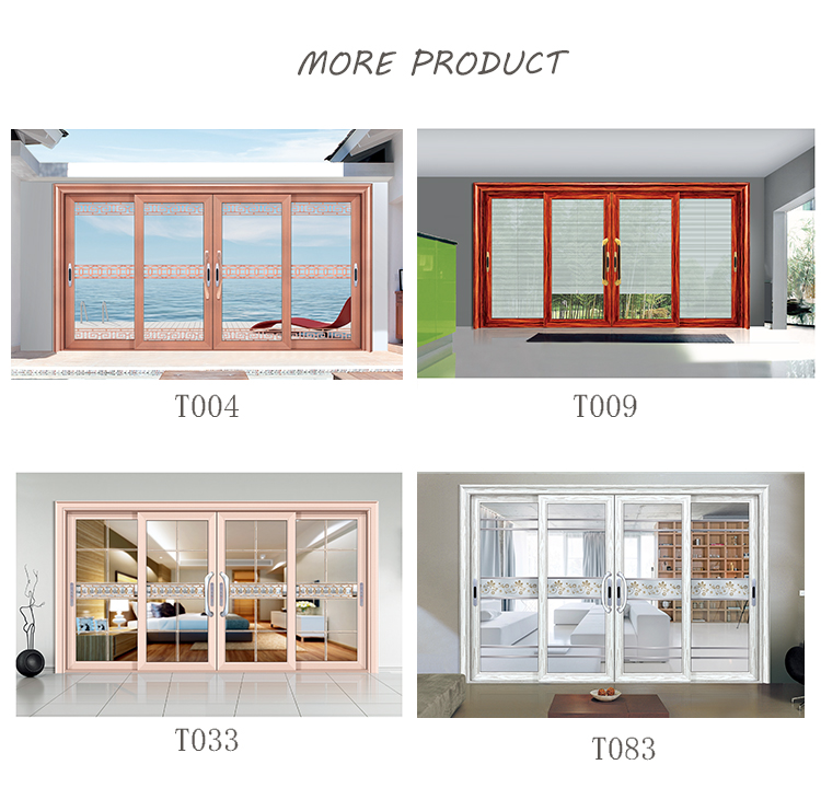 Durable alloy aluminum sliding glass door price 4 panel glass door for sale