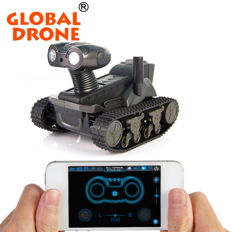 LT-728 i-SPY played with iPhone/iPad/ITouch/iPod/Android wifi control R/C Tank robot with camera