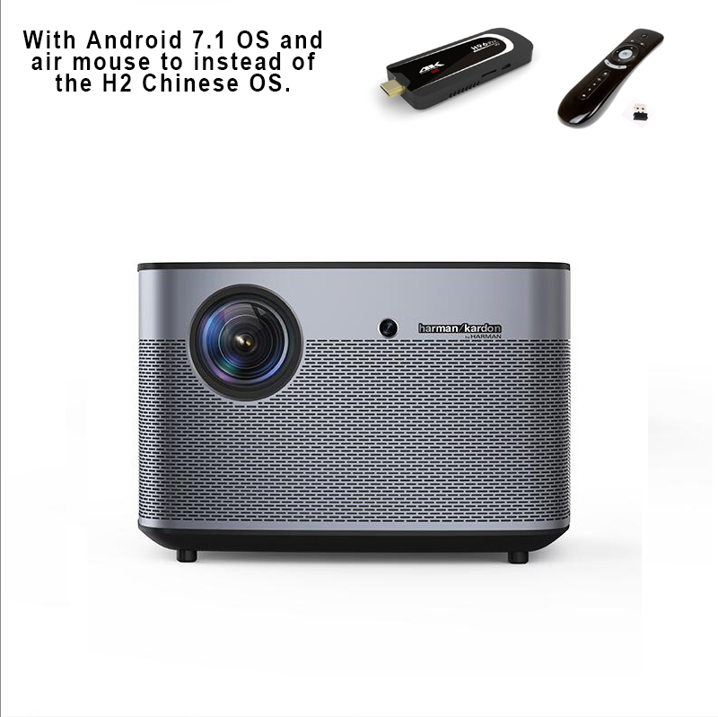 Alibaba.com / XGIMI H2 1080P 3D DLP 4K Projector 1350 ANSI Lumens and Harman/Kardon Speaker for Home Theater LED Beamer Android 7.1 Dongle