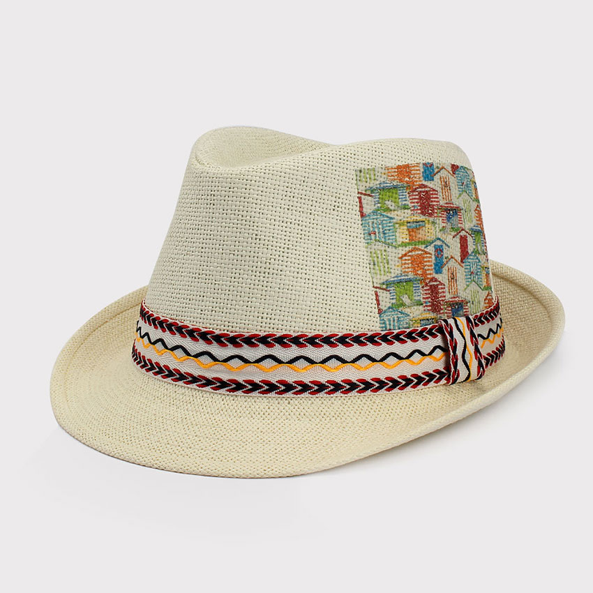 Summer Unisex Craft Paper Shade Fishing Straw Panama Hat