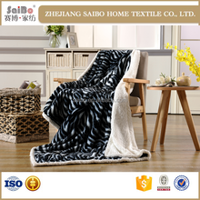 100% polyester organic cotton fabric blanket