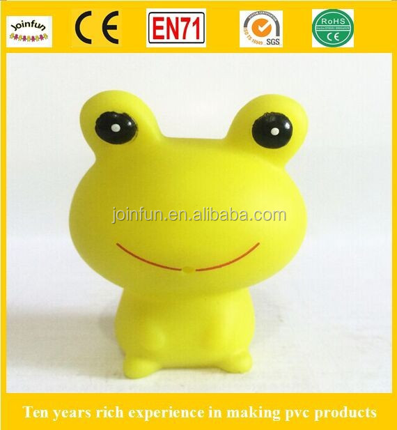 custom vinyl baby toy , Soft Material PVC Vinyl Toys, Squeaky low price toy plastic frogs