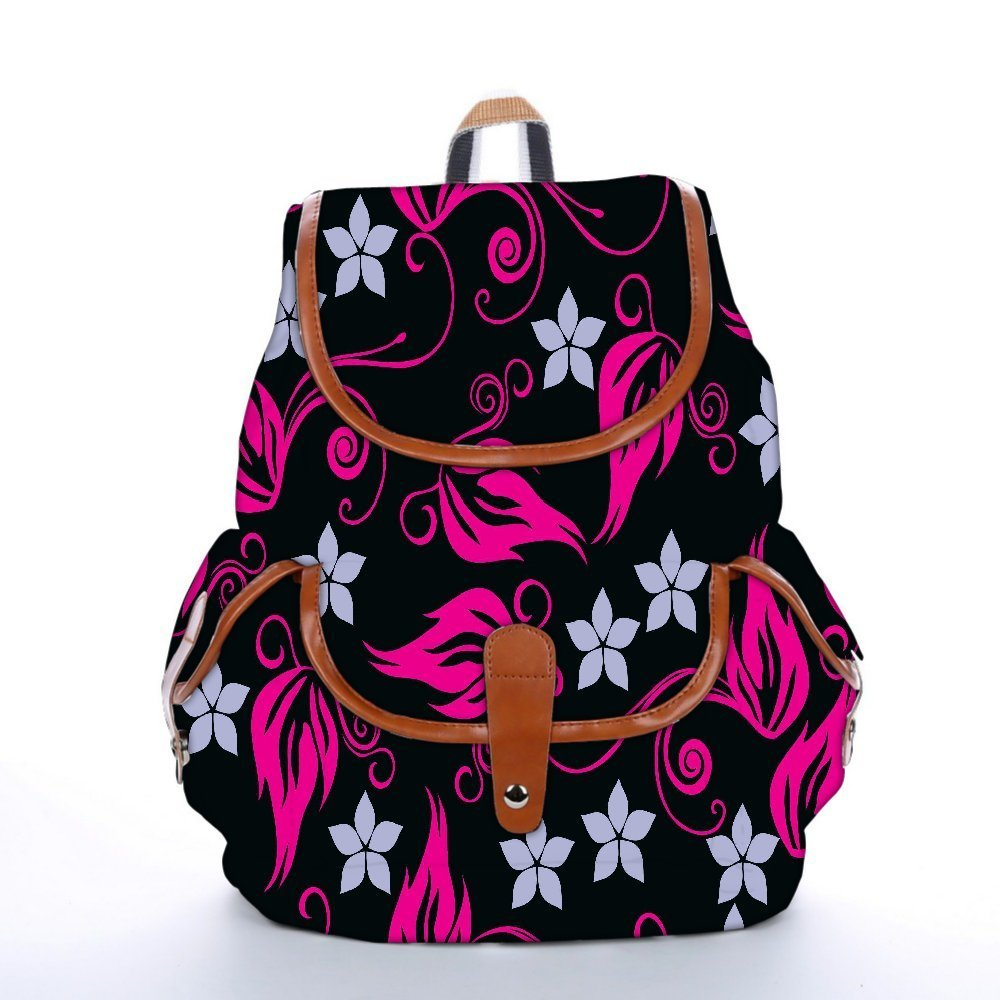 Get Quotations · Snoogg Grey Pattern Pink Fashion Backpack For Women  Printed Shoulder School Travel Camping Backpack Rucksack For ff3d55af817e0