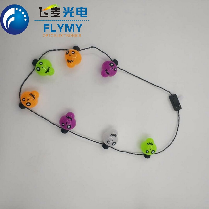 2020 new products flashing LED necklace light up bulb led party necklace