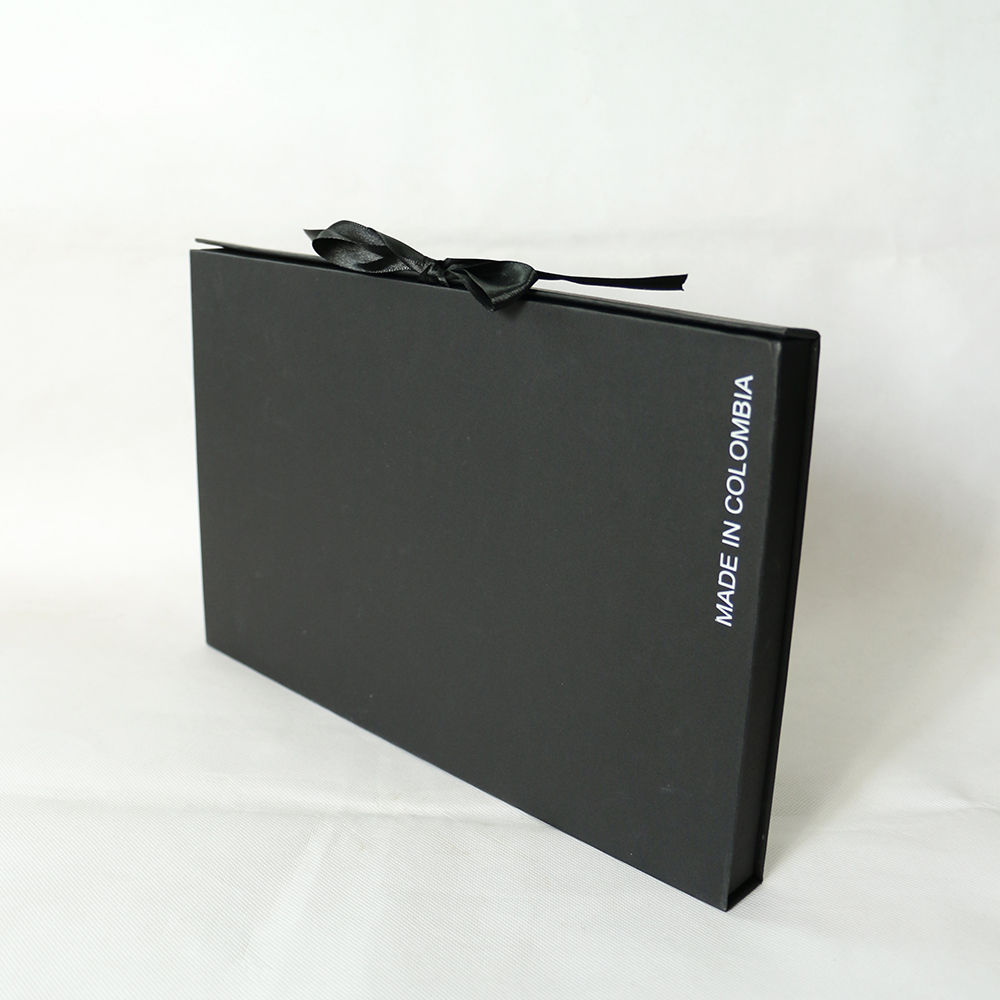 Wholesale large black custom logo paper cardboard packaging box luxury magnetic paper gift box with magnet