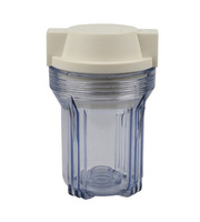 In-line water filter housing with air release button ,Ro system parts ,clear water filter housing
