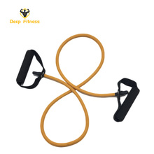 Natural latex workout resistance fitness high elastic rubber tube