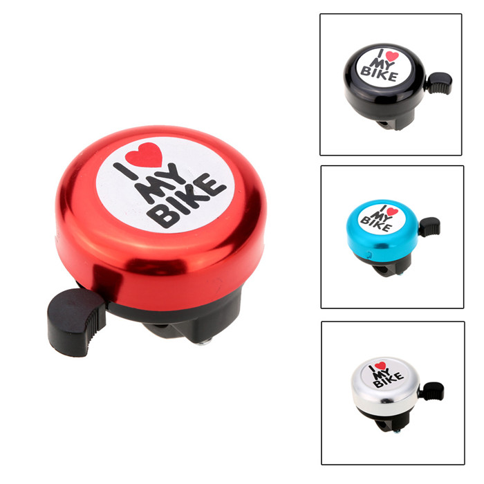 YOUME 4Color Bicycle Bell I Love My Bike Printed Clear Sound Loud Outdoor MTB Horn Alarm Warning Bell Ring Cycling Accessory