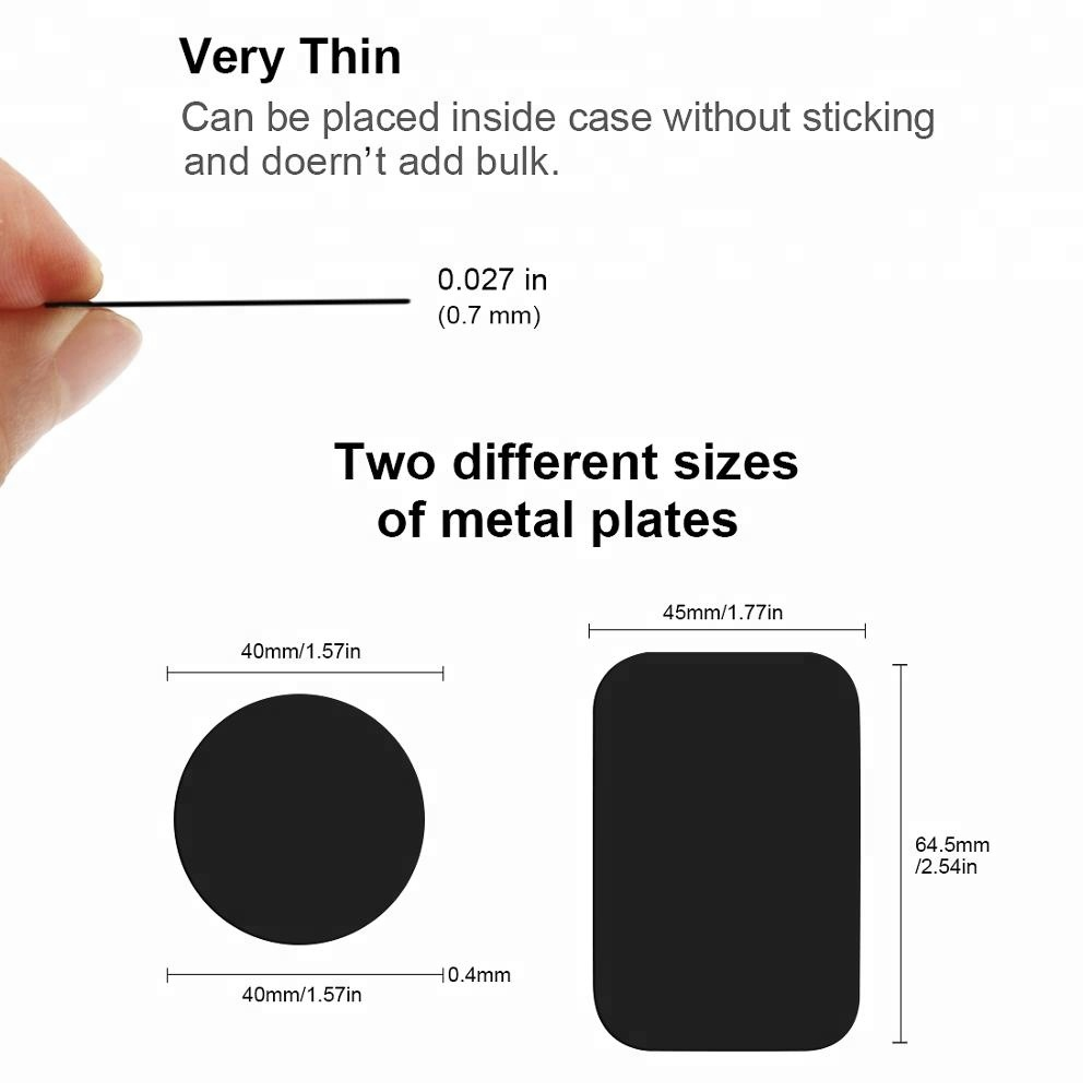 Metal Plate Magnetic Disk For Car Phone Holder Magnet Iron Sheets For Car Mount Phone Holder Stand Sticker