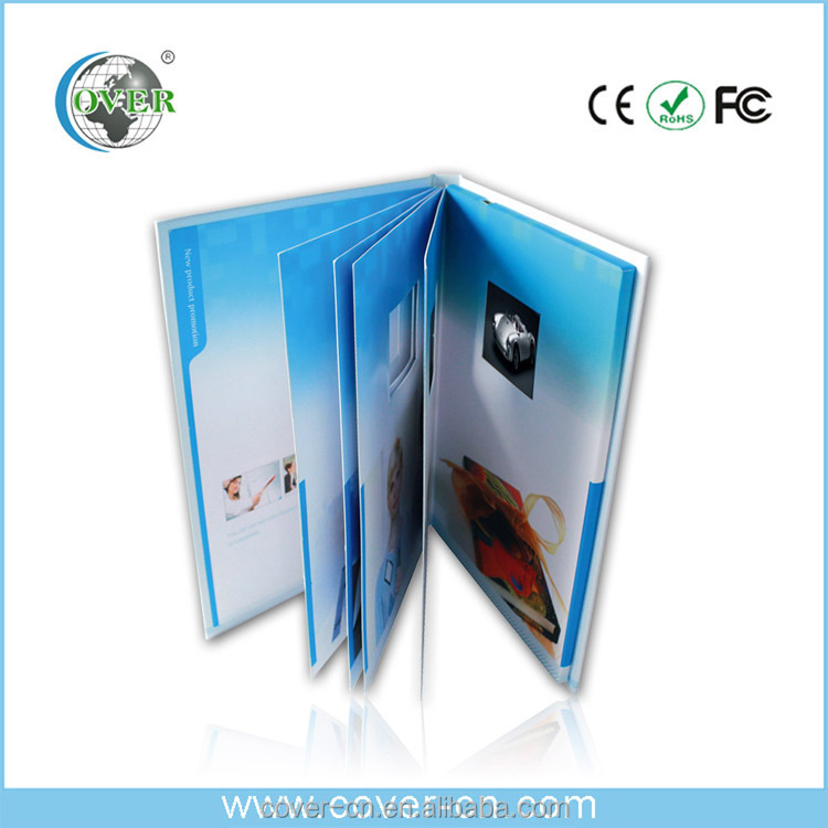 multiple inner pages video brochure with light sensor for promotion/Advertising/wedding