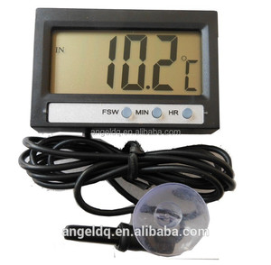 Digital indoor and outdoor car thermometer with clock AG-2S