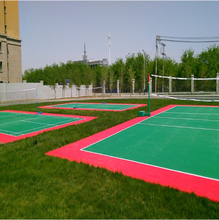 water proof suspended modular Used portable plastic volleyball court sports flooring