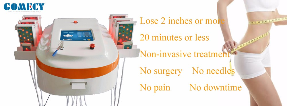 Save Time GOMECY lipo Slimming Laser machine  weight reduction de grasa for business using no consumers lipo pads.png