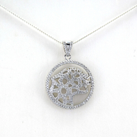 Daily Wear Round Arrests Jewelry Laser Crystal Pendant