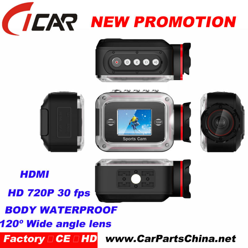 High Quality Outdoor Sports DVR Real HD 720P IP68 Under water 20m Car Dvr Camera