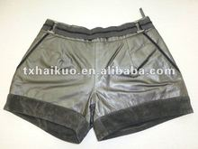 2012 latest fashion girl's leather shorts
