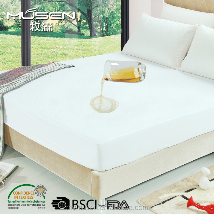 High Quality Premium Hypoallergenic Poly Knitted Waterproof Mattress Cover/Protector - Vinyl Free