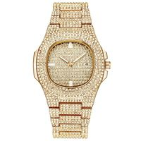xinew full crystal stainless steel lady luxury wrist watch bling watch ice ot watches