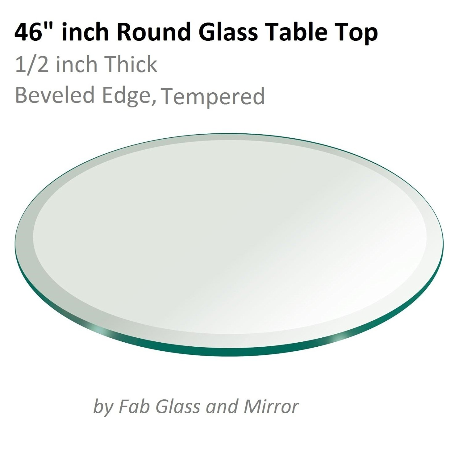 Fab Gl And Mirror 1 2 Thick Beveled Tempered Round Table Top 46 In Price On M Alibaba