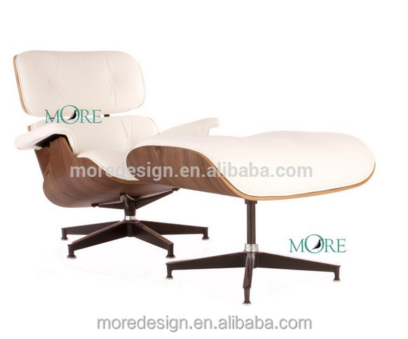 Modern Classic emes Lounge Chair with Ottoman Aniline Leather replica Home Furniture