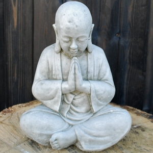 Indoor or outdoor decoration white marble little boy buddha statues
