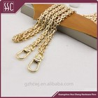 Decorative metal chain for purse with clasps,bag parts chain with hooks
