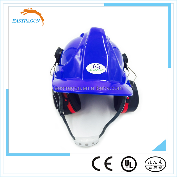 Construction Insulating Safety Helmet with earmuff