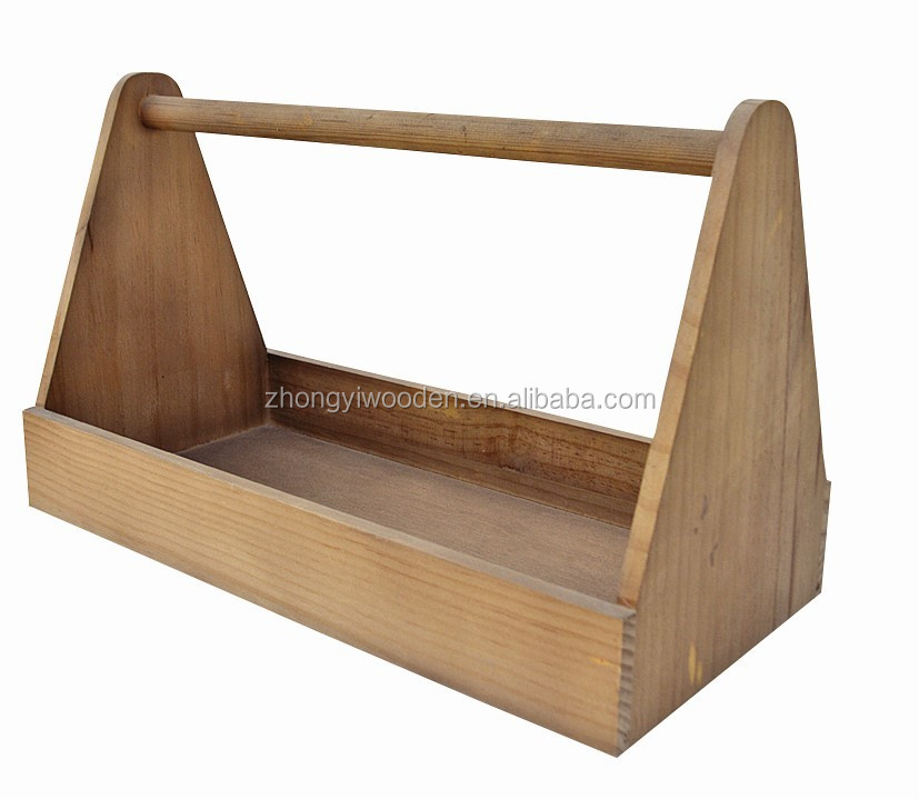 2015 year china suppliers ISO9001&FSC&SA8000 pine unfinished handle wooden glass bottles servicing tray for wholesale