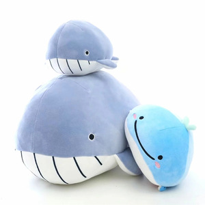 New design marine animal soft Stuffed Toys Cute shark whale Doll Birthday gift plush toy