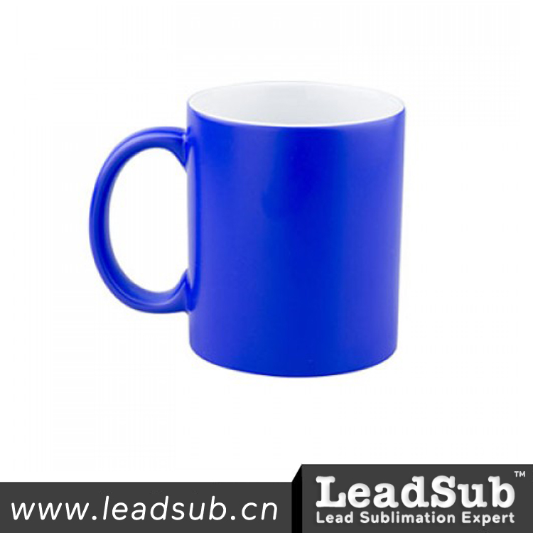 11oz blue matte magic mugs with high quality from Leadsub Factory