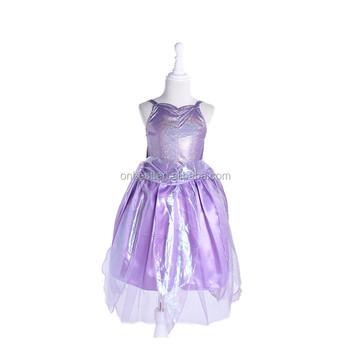 d4e25b23d7bbc3b Быстрая доставка королевский костюм принцессы Дети Принцесса София костюм  феи платье с пайетками